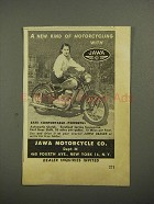 1948 Jawa Motorcycle Ad - New Kind of Motorcycling