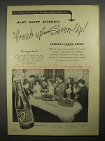 1947 7up Soda Ad - Many Happy Returns, Fresh up