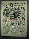 1950 Bolex H-16 Movie Camera Ad - Don Sykes