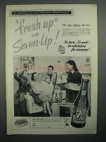 1951 7Up Soda Ad - Fresh Up, All-Family Drink