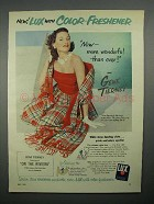 1951 Lux Soap Ad w/ Gene Tierney - Color-Freshener