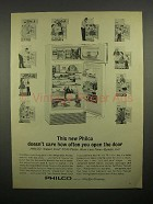 1963 Philco 14RD37 Refrigerator Ad - Doesn't Care How Often You Open
