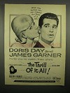 1963 Thrill of it All Movie Ad, Doris Day, James Garner