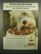 1964 Top Choice Dog Food Ad - 10 Times More Beef