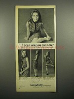 1965 Simplicity Sewing Pattern Ad - Julie Newmar