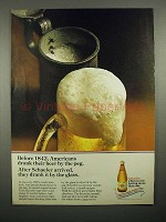 1969 Schaefer Beer Ad - Before 1842 Drank By The Peg
