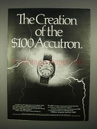 1973 Bulova Accutron Model 21118 Watch Ad