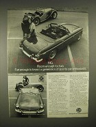 1973 MG MGB Car Ad - Breed Sports Car Enthusiasts