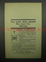 1908 Aeolian Pianola Piano Ad - Draw The Line