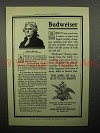 1908 Budweiser Beer Ad - Thomas Jefferson