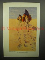 1908 Illustration by Lawren S. Harris - Camels, Egypt