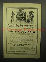 1908 Aeolian Pianola Piano Ad - Leisure Hours