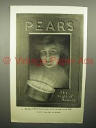 1908 Pears Soap Ad - The Light of Beauty