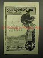 1913 Santa Fe Railroad California Limited Train Ad - Santa Fe Deluxe