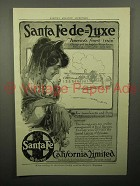 1913 Santa Fe Railroad California Limited Train Ad