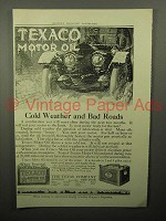 1913 Texaco Motor Oil Ad - Cold Weather