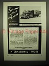 1938 International Harvester Truck Ad - Service