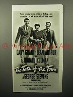 1942 The Talk of the Town Movie Ad - Cary Grant