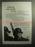 1943 WWII Every Civilian a Fighter Ad - Only Dead Free