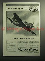 1943 WWII Western Electric Ad - In the Army Now