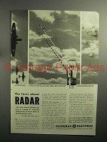 1943 WWII General Electric Radar Ad - The Facts About