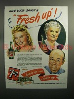 1944 7up Soda Ad - Give a Fresh Up