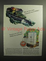1944 WWII United States Steel Ad - Submarines