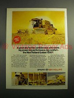 1974 Sperry New Holland Golden 1500 SP Combine Ad