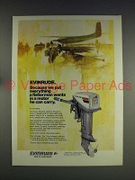 1974 Evinrude 15 hp Fastwin Outboard Motor Ad