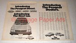 1974 Peugeot Diesel Car Ad - Introducing