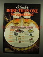 1975 Schaefer Beer Ad - More-Than-One Sweepstakes