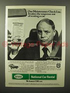 1975 National Car Rental Advertisement w/ Don Rickles