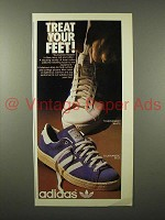 1975 Adidas Tournament White, Tournament Blue Shoe Ad