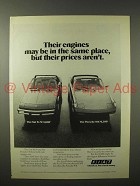 1975 Fiat X1/9 Car Ad w/ Porsche 914 - Same Place