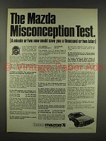 1976 Mazda Cosmo Car Ad - Misconception Test