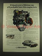 1976 Peugeot Diesel Car Ad - Have This Engine
