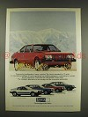 1976 Lancia Beta Coupe Car Ad - Intelligent Alternative