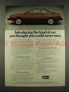 1976 Lancia Beta Coupe Car Ad - You Could Never Own