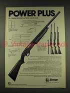 1976 Savage Model 30-D Shotgun Ad - Power Plus