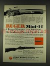 1976 Ruger Mini-14 Semi-Auto Rifle Gun Ad - Rugged