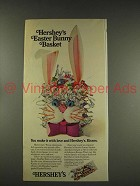1976 Hershey's Kisses Ad - Easter Bunny Basket