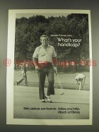 1976 March of Dimes Ad w/ Arnold Palmer