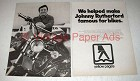1976 Yellow Pages Phone Book Ad - Johnny Rutherford