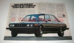 1976 BMW 530i Car Ad - Longer on Luxury
