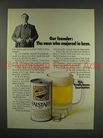 1970 Falstaff Beer Ad - Our Founder Majored in Beer