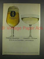 1973 Lowenbrau Beer Ad - If They Run Out, Champagne