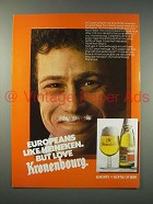 1982 Kronenbourg Beer Ad - Europeans Love