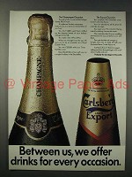 1984 Carlsberg Export Beer Ad - Every Occasion