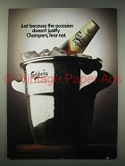 1984 Calrsberg Export Beer Ad - Champers Fear Not