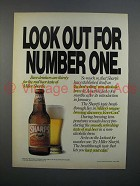 1989 Miller Sharp's Beer Ad - Look Out for Number One